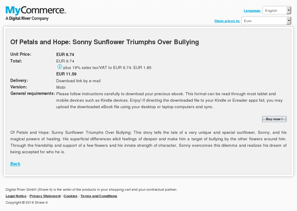 Petals Hope Sonny Sunflower Triumphs Over Bullying Download