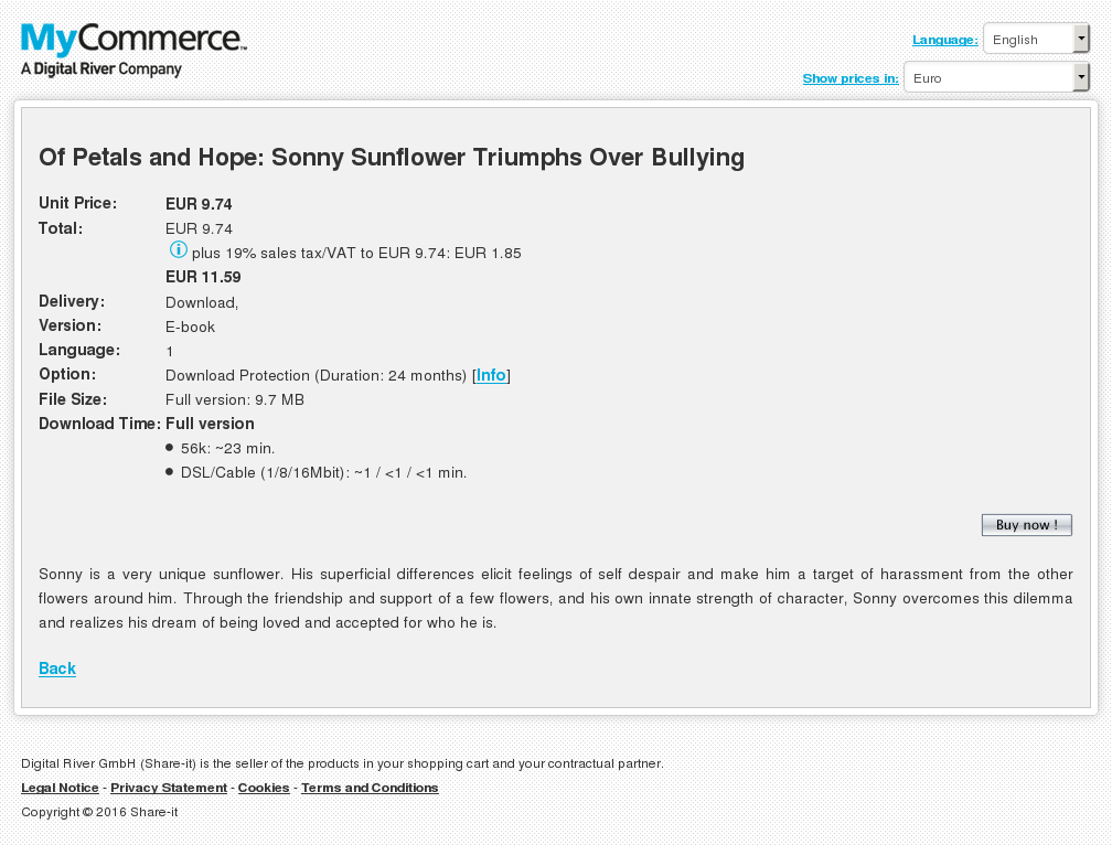 Petals Hope Sonny Sunflower Triumphs Over Bullying Free