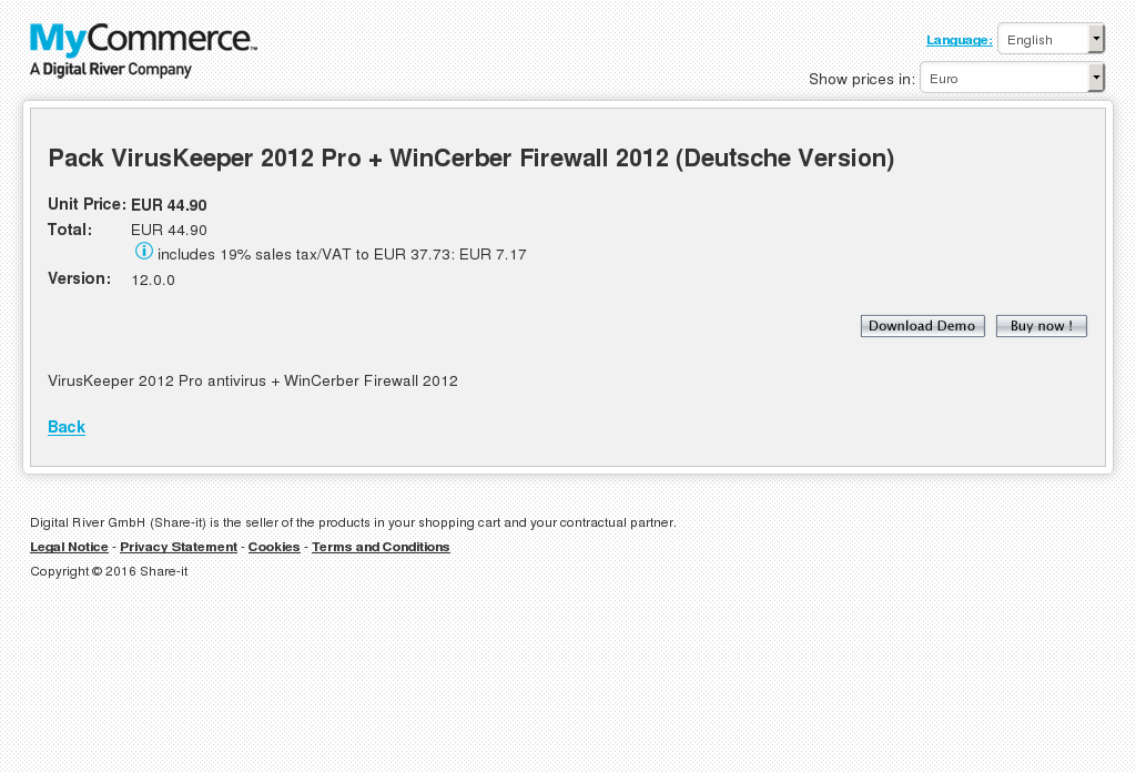 Pack Viruskeeper Pro Wincerber Firewall Deutsche Version Features