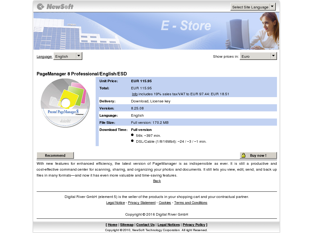 Pagemanager Professional English Esd Alternative