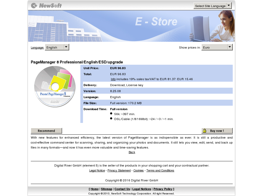 Pagemanager Professional English Esd Upgrade Howto