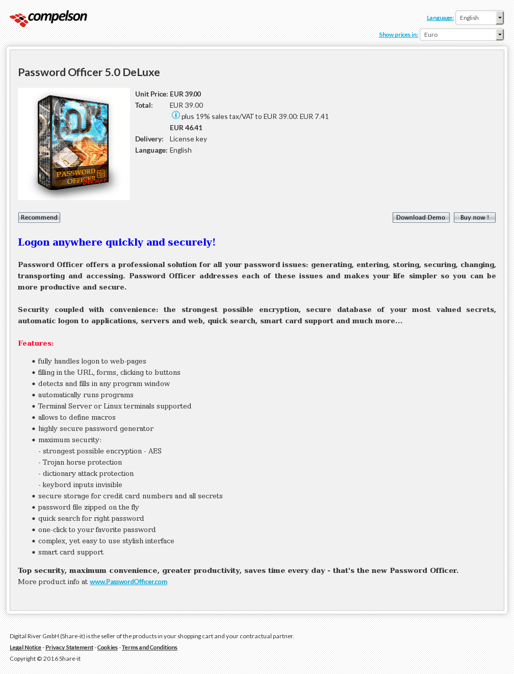 Password Officer Deluxe Review
