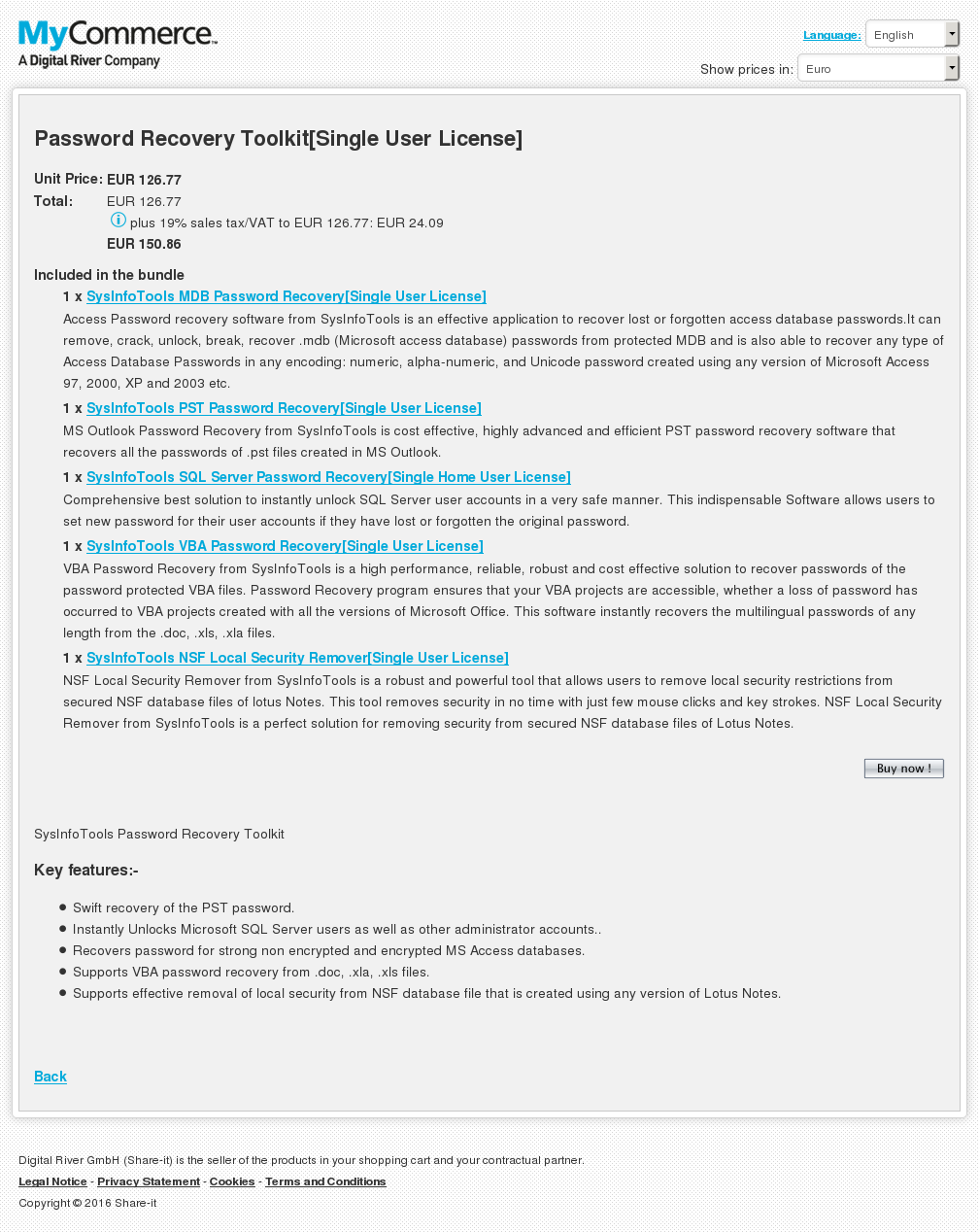 Password Recovery Toolkit Single User License Review