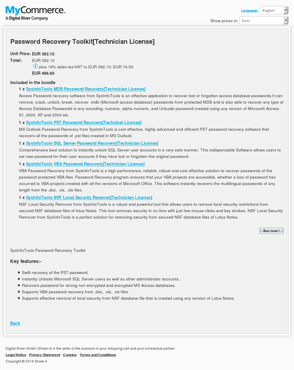 Password Recovery Toolkit Technician License Free