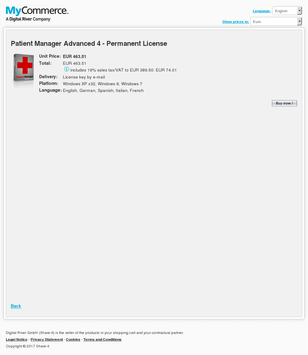 Patient Manager Advanced Permanent License Download