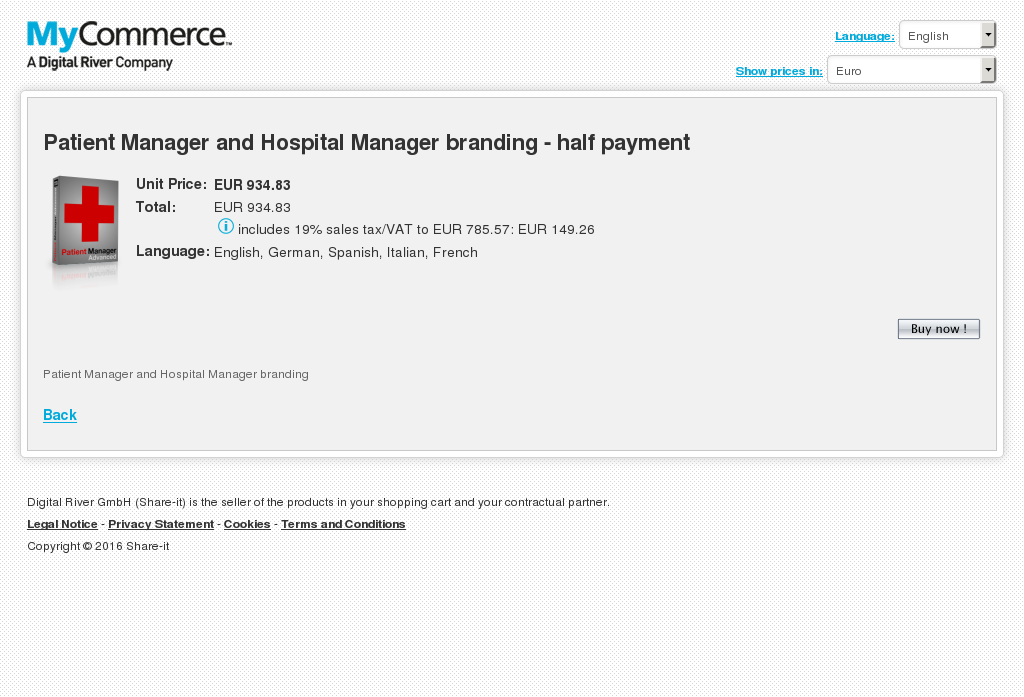 Patient Manager Hospital Branding Half Payment Howto