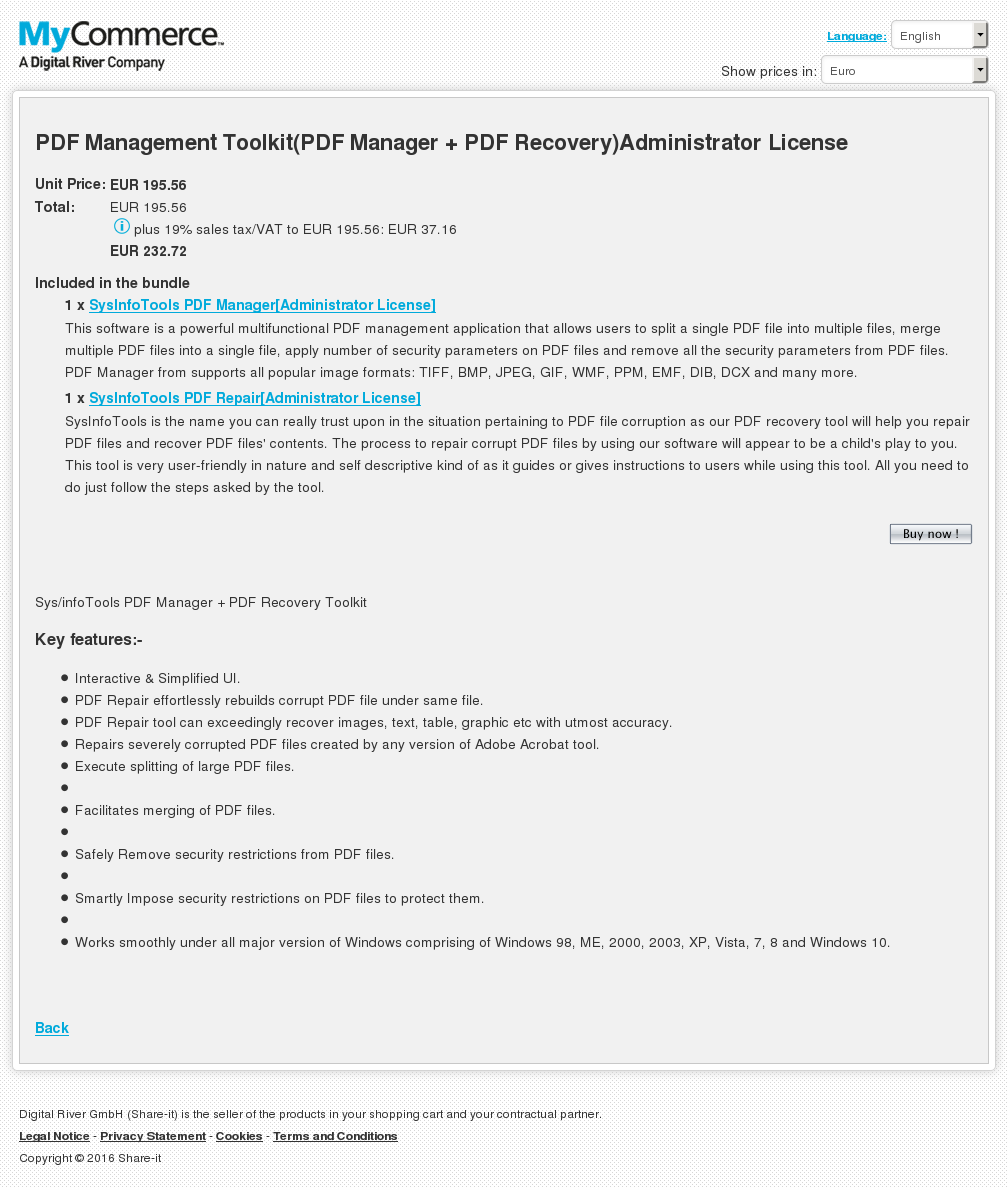 Pdf Management Toolkit Manager Recovery Administrator License Howto