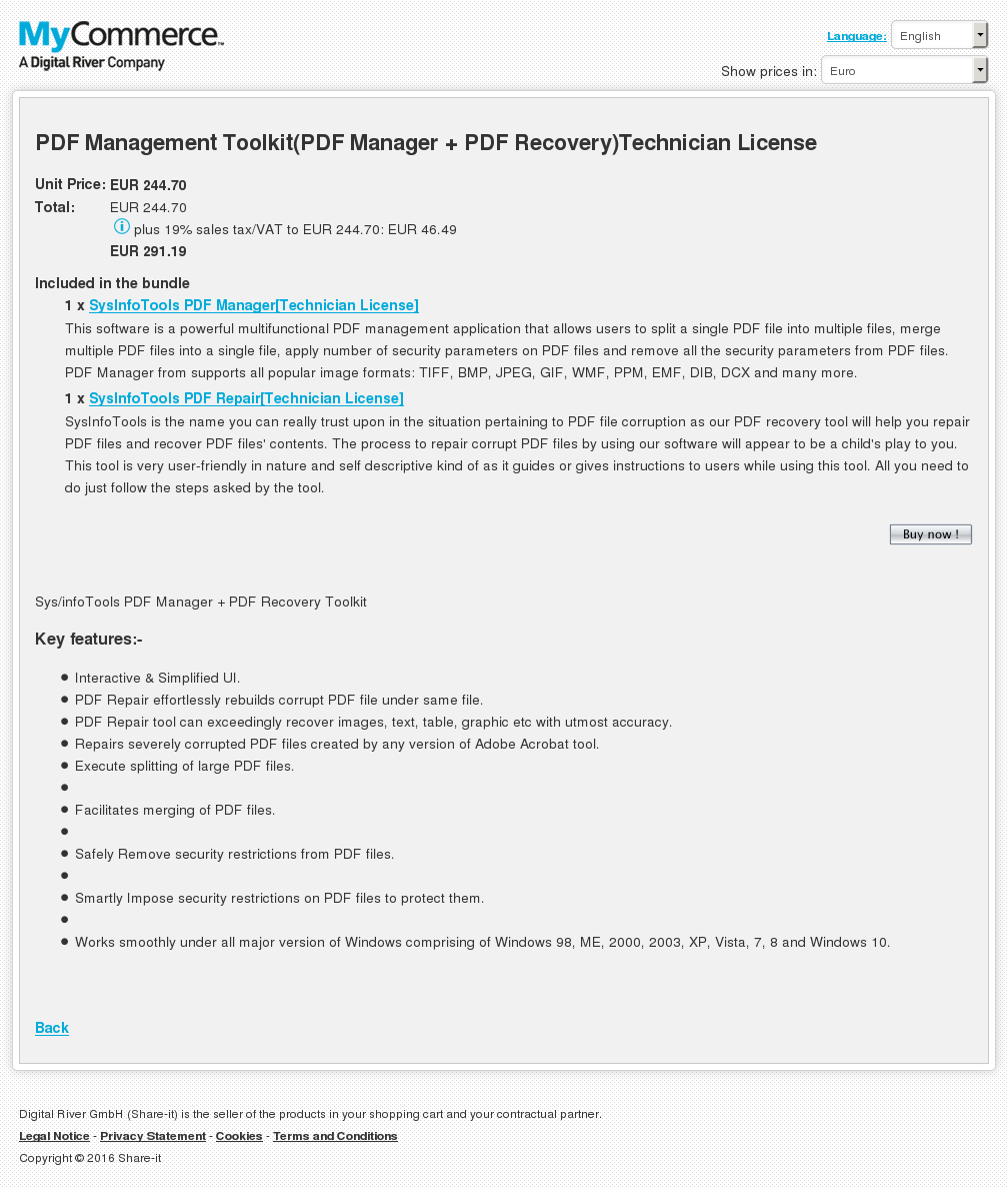 Pdf Management Toolkit Manager Recovery Technician License Review