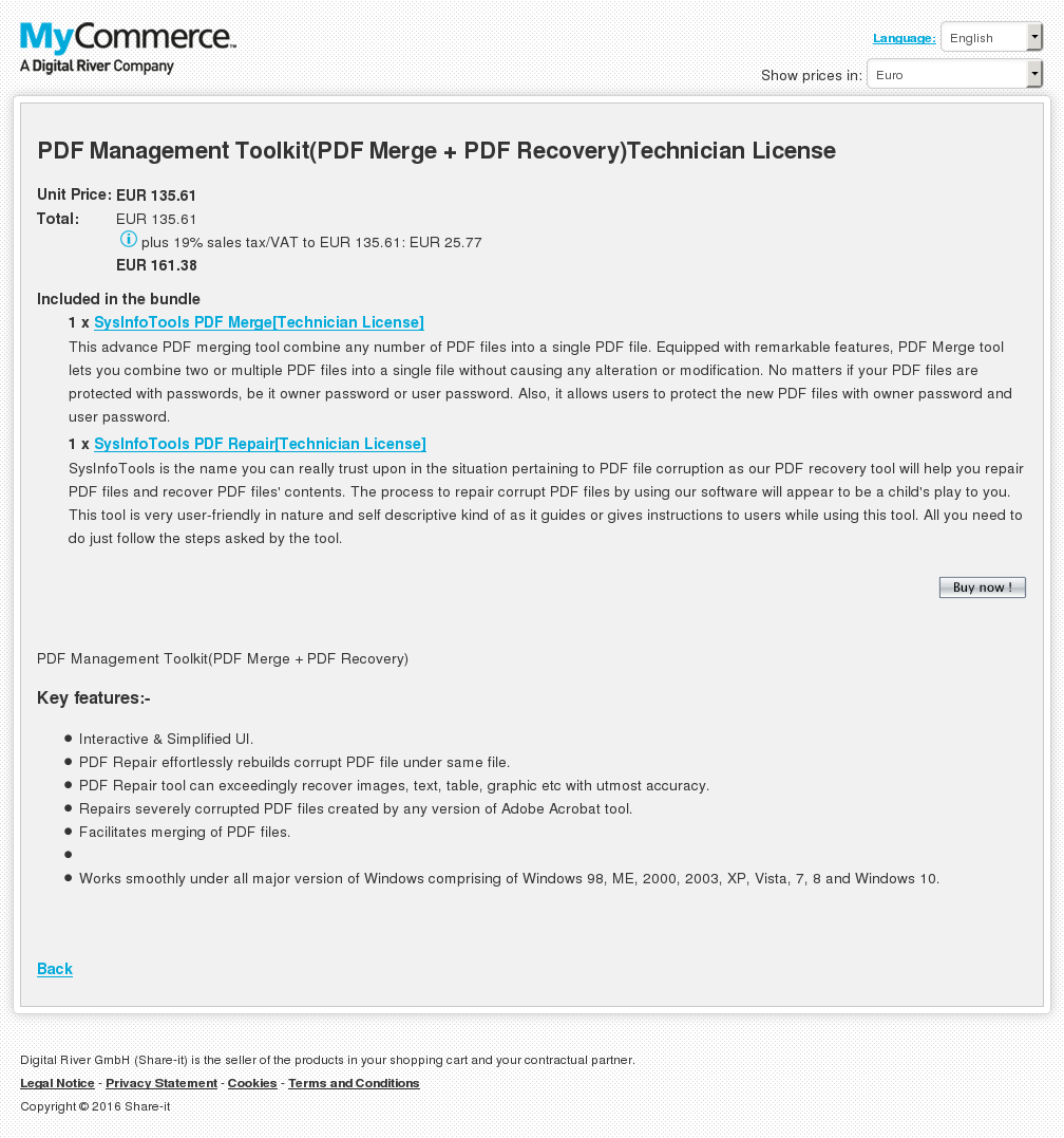 Pdf Management Toolkit Merge Recovery Technician License Features