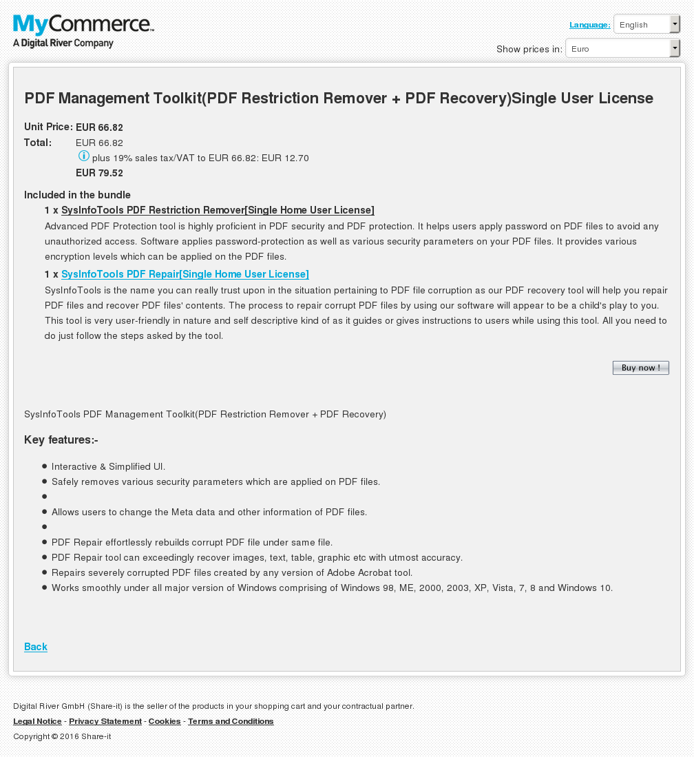 Pdf Management Toolkit Restriction Remover Recovery Single User License Key Information