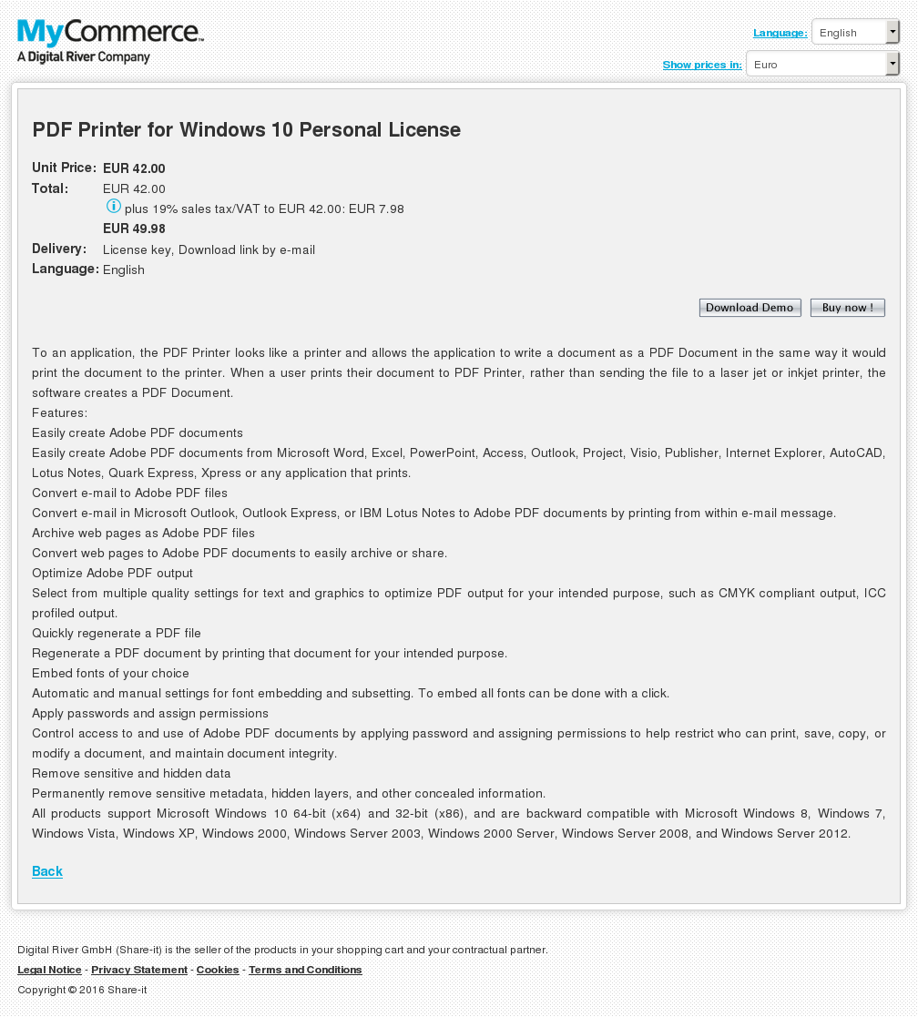 Pdf Printer Windows Personal License Howto
