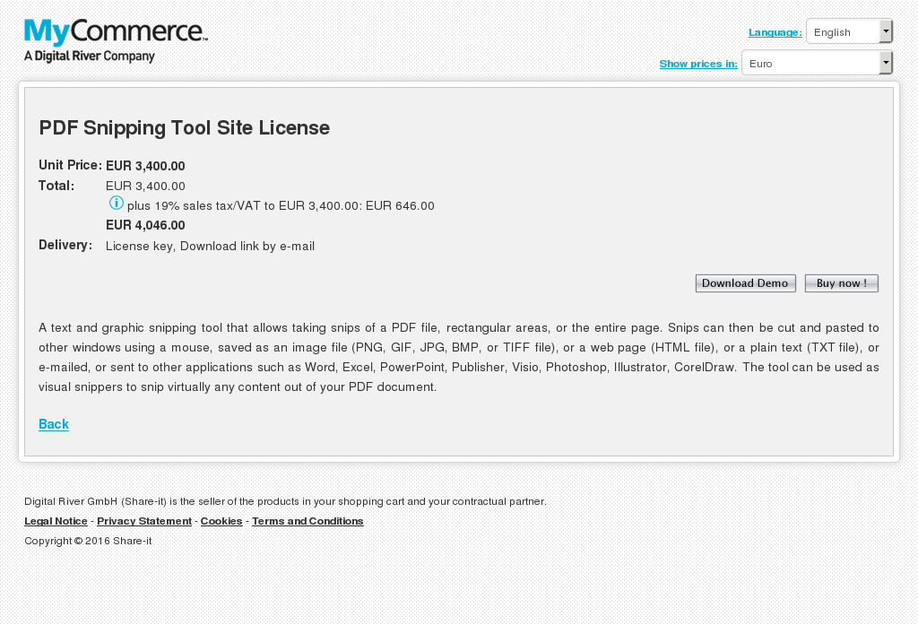 Pdf Snipping Tool Site License Features