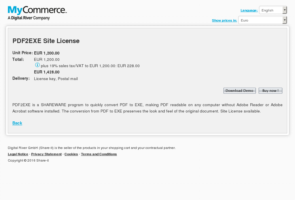 Pdfexe Site License Features