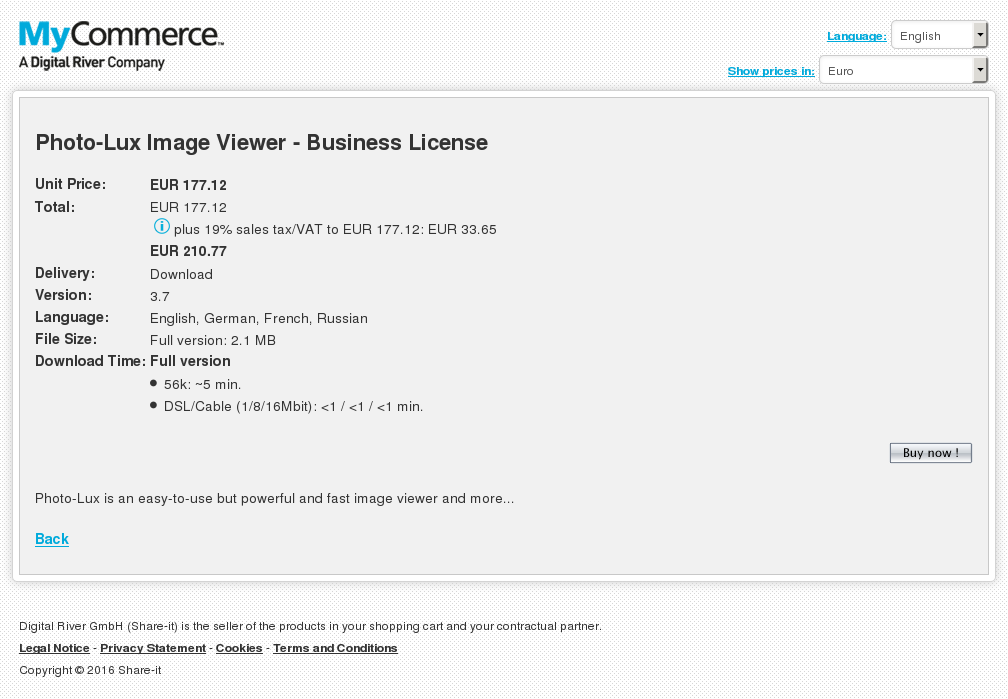 Photo Lux Image Viewer Business License Review