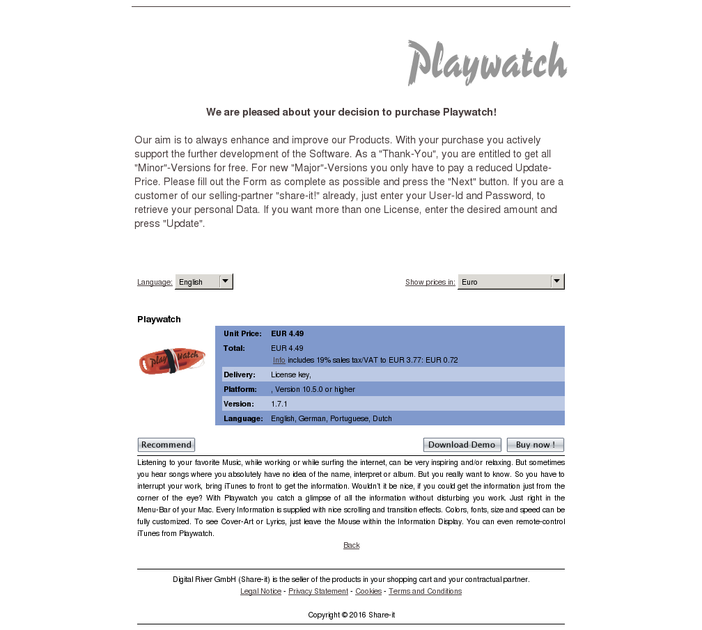 Playwatch Download