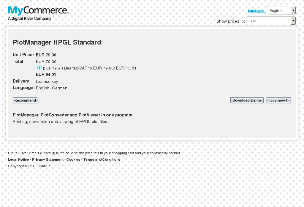 Plotmanager Hpgl Standard Review