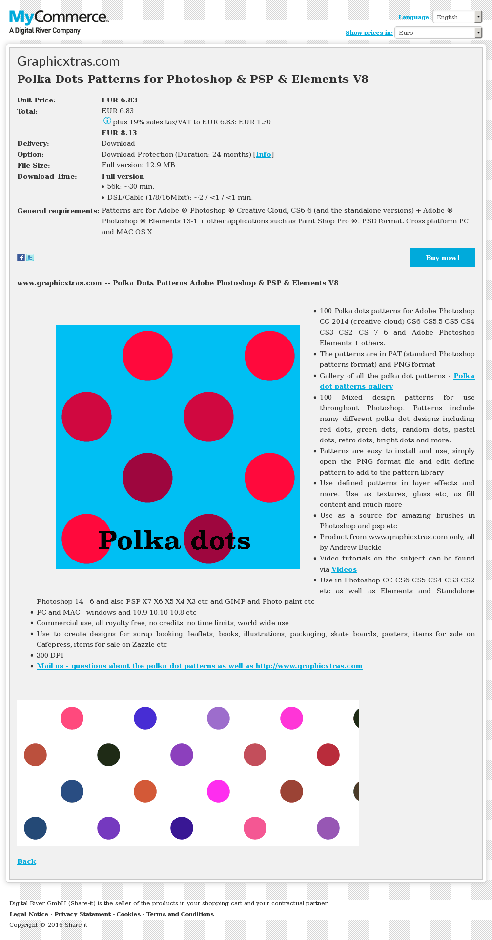 Polka Dots Patterns Photoshop Psp Elements Howto