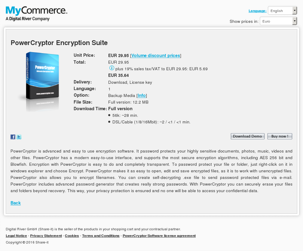 Powercryptor Encryption Suite Features