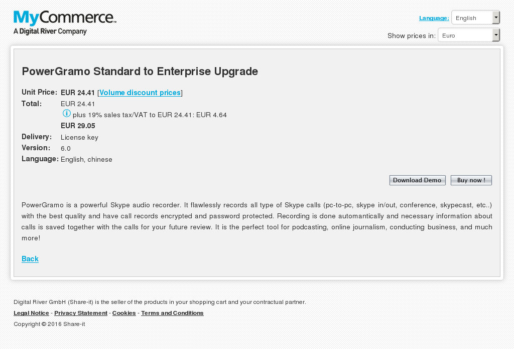 Powergramo Standard Enterprise Upgrade Alternative