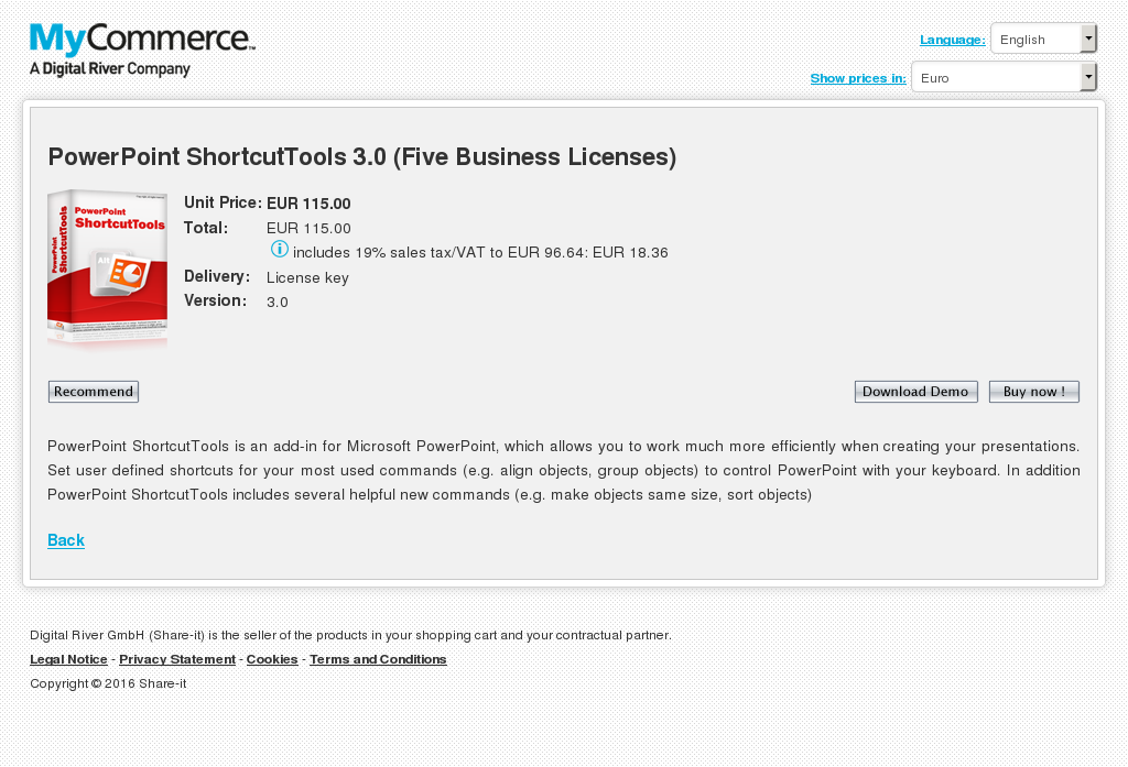 Powerpoint Shortcuttools Five Business Licenses Download