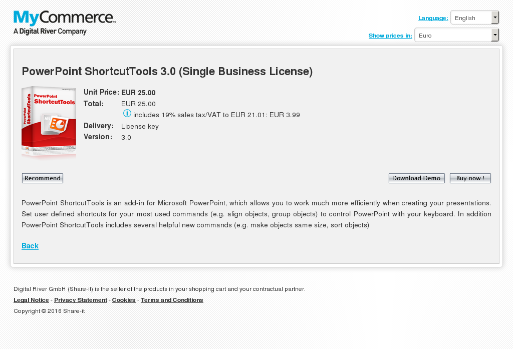 Powerpoint Shortcuttools Single Business License Free