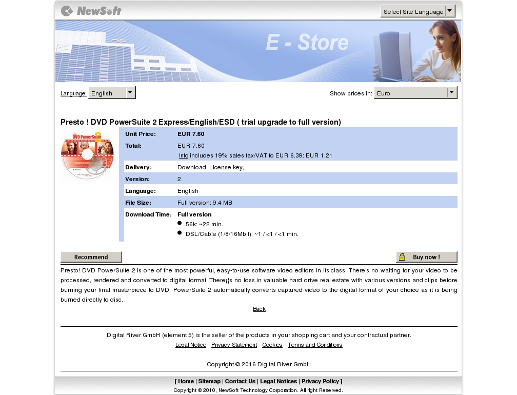 Presto Dvd Powersuite Express English Esd Trial Upgrade Full Version Howto