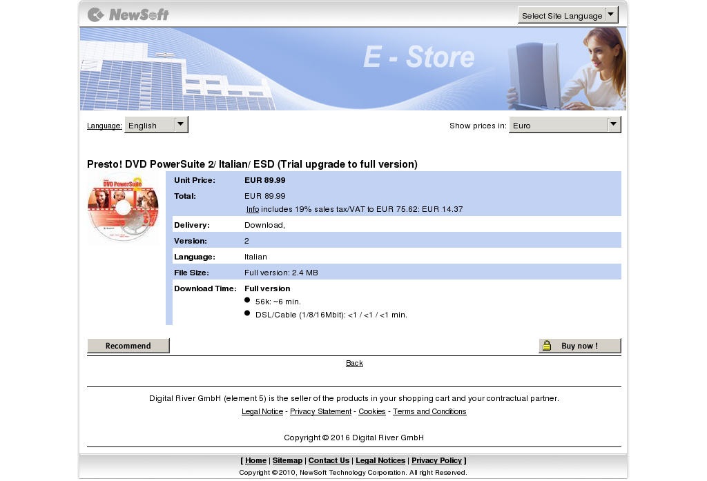 Presto Dvd Powersuite Italian Esd Trial Upgrade Full Version Free