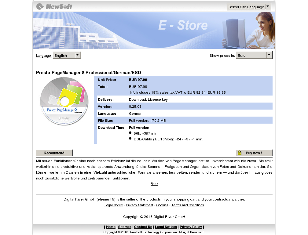 Presto Pagemanager Professional German Esd Download