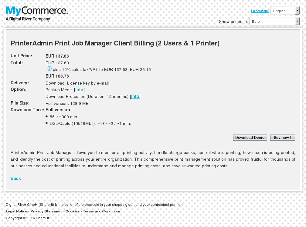 Printeradmin Print Job Manager Client Billing Unlimited Users Printers Features