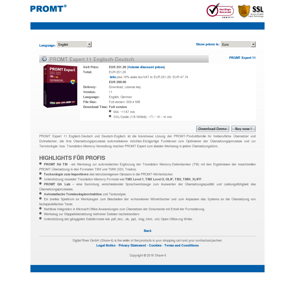 Promt Expert Englisch Deutsch Alternative
