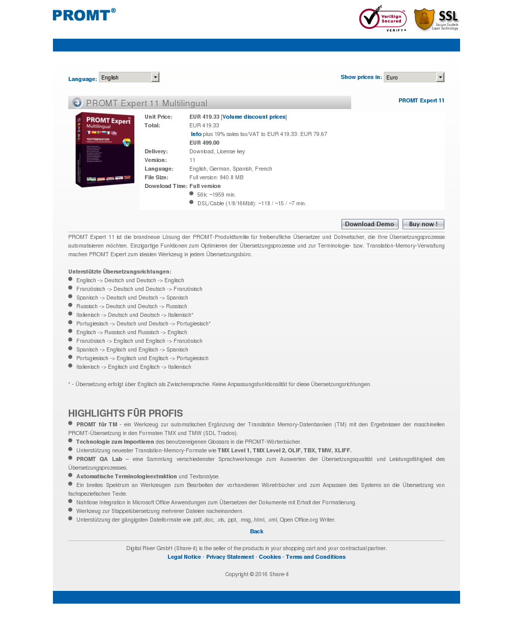 Promt Expert Multilingual Download