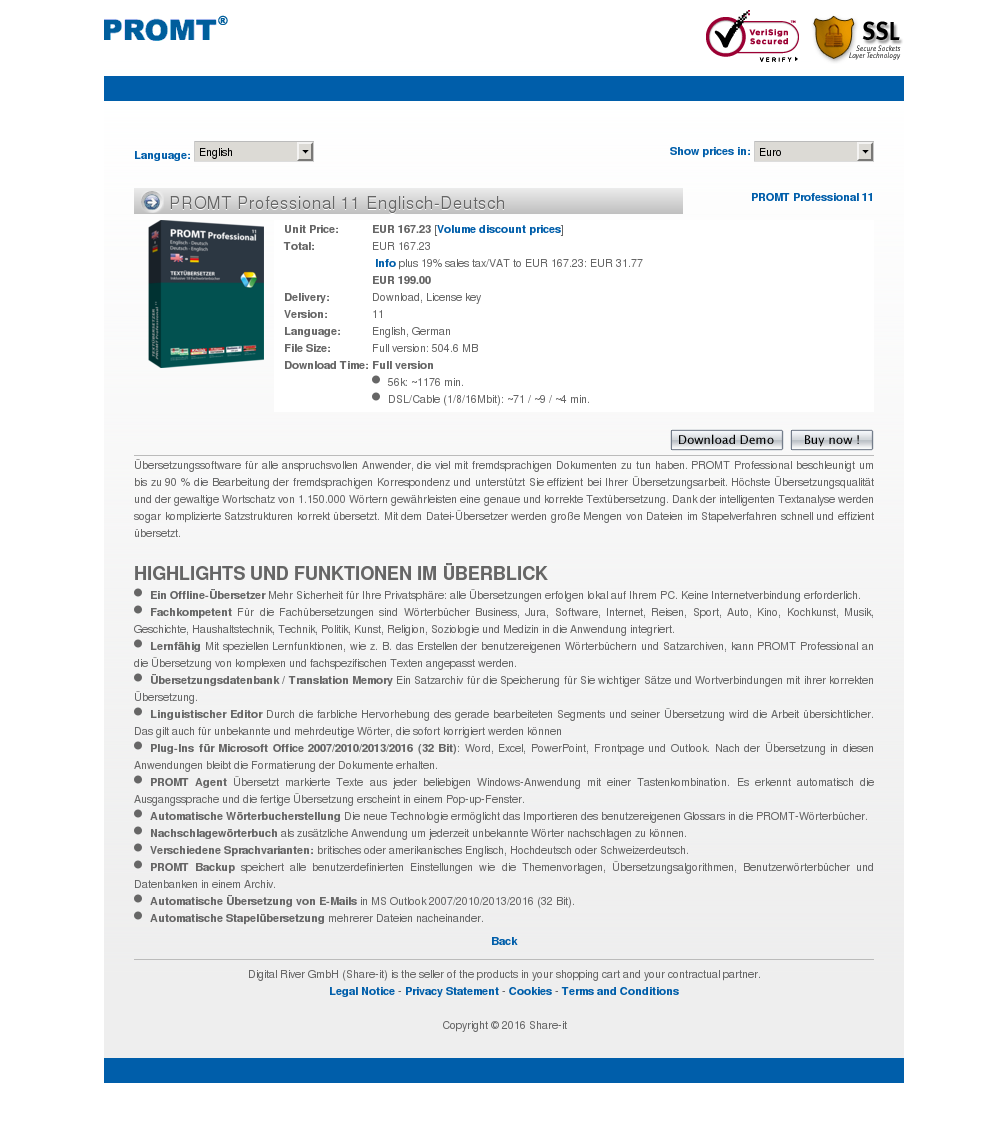 Promt Professional Englisch Deutsch Download