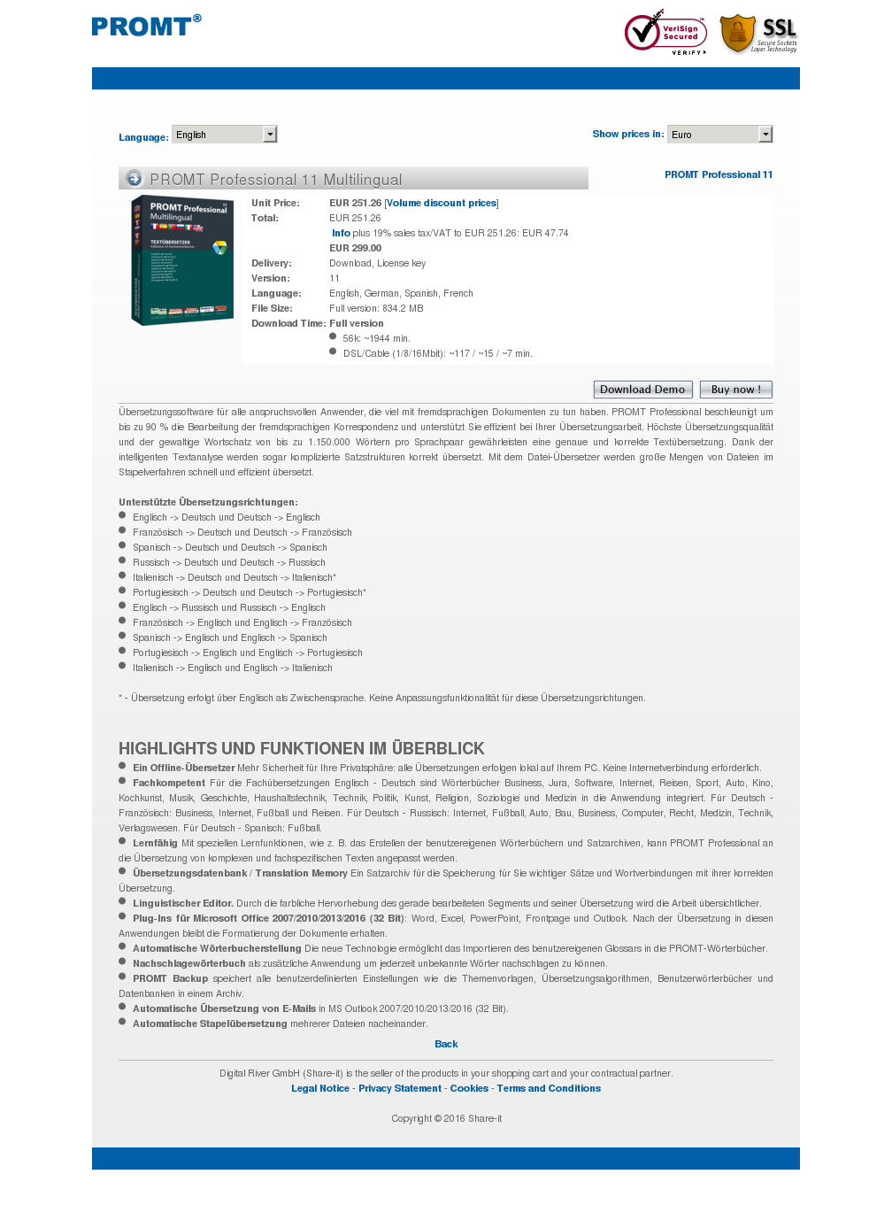 Promt Professional Multilingual Howto