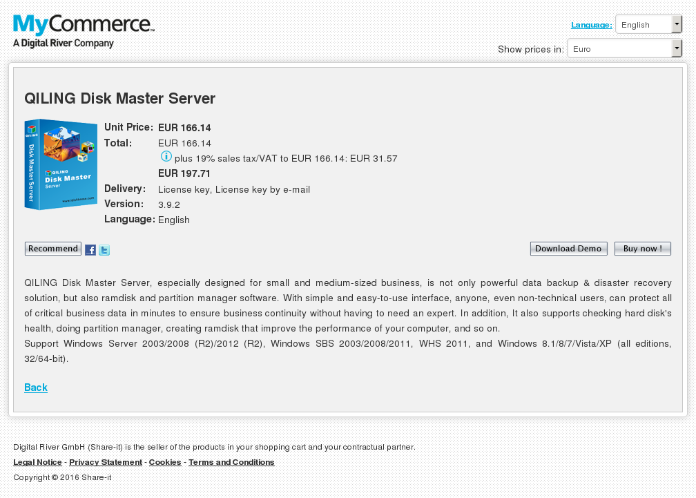 Qiling Disk Master Server Howto