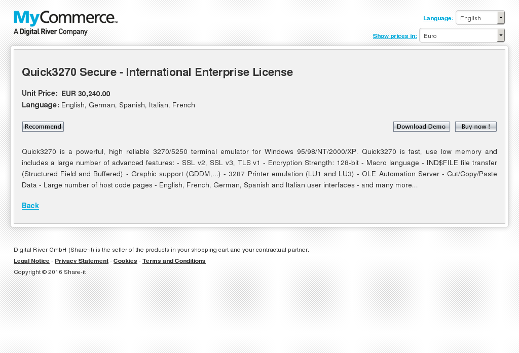 Quick Secure International Enterprise License Alternative
