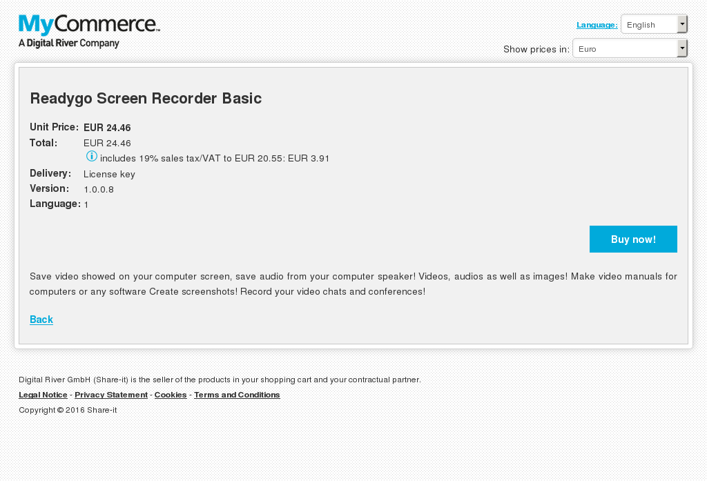 Readygo Screen Recorder Basic Features