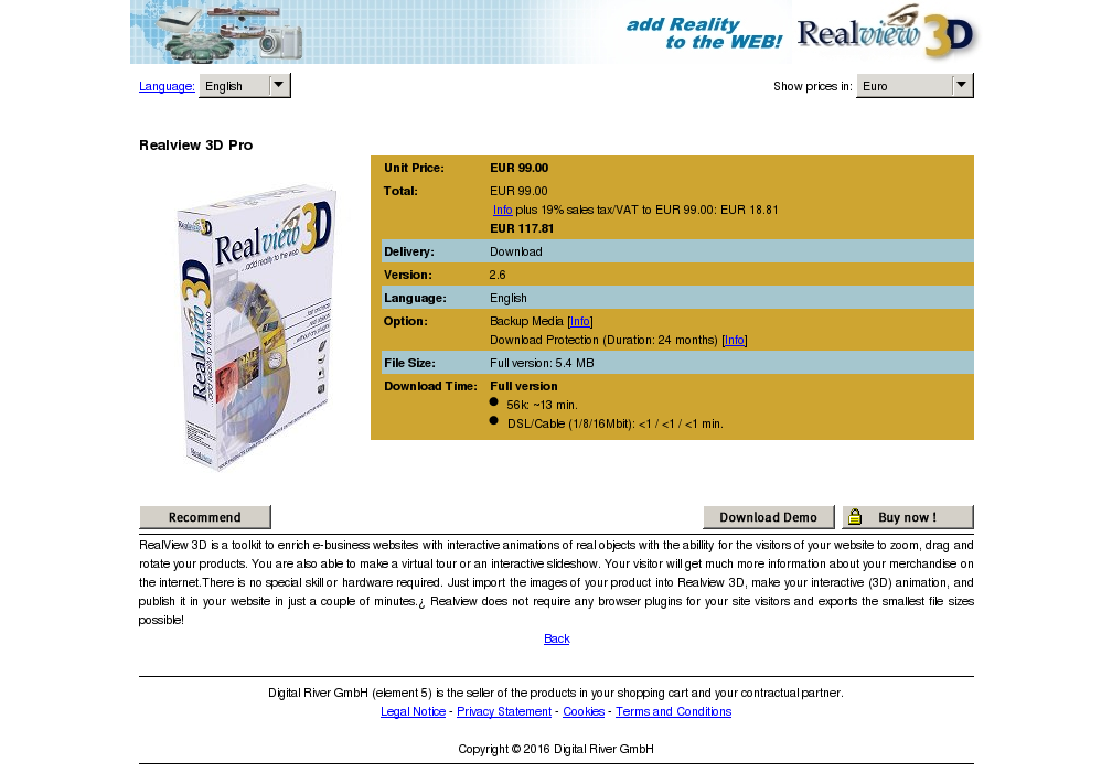 Realview Pro Key Information