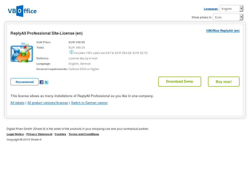 Replyall Professional Site License Free