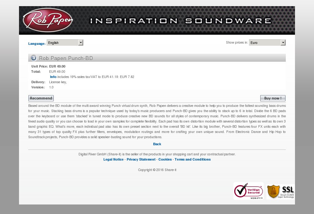 Rob Papen Punch Features