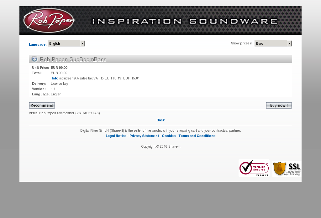 Rob Papen Subboombass Howto