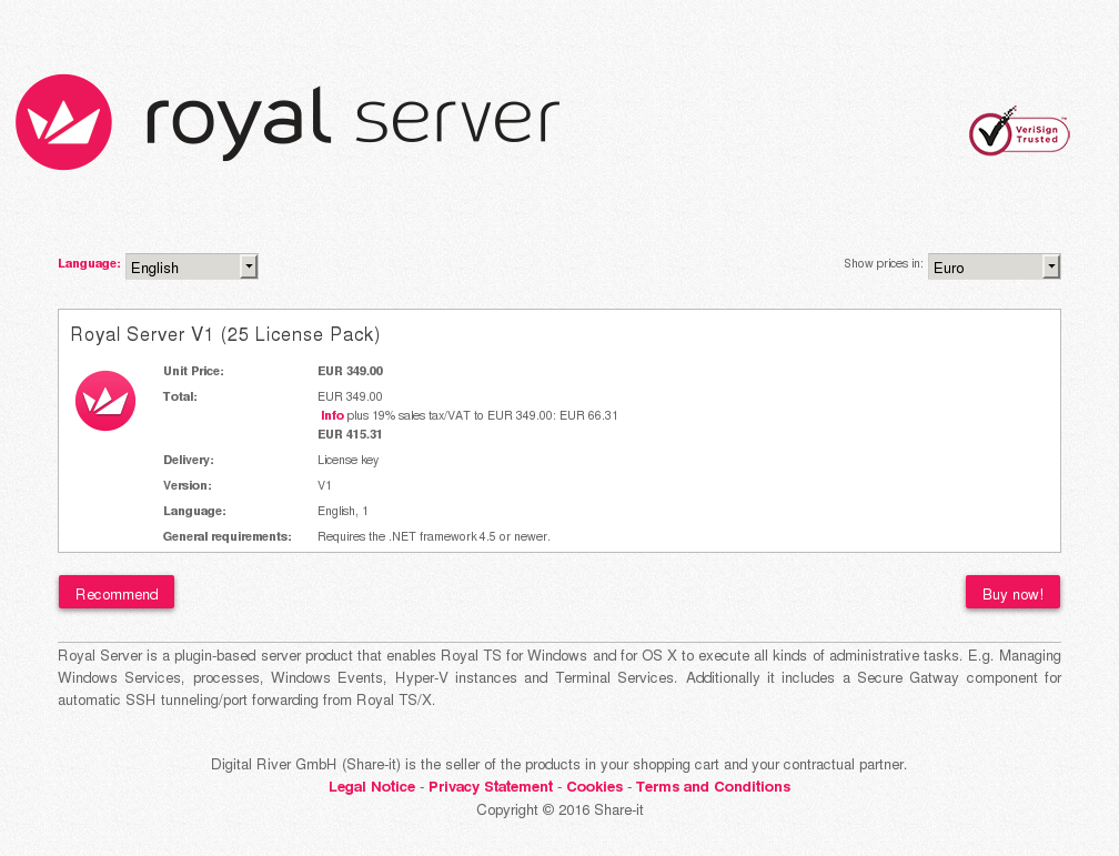 Royal Server License Pack Review