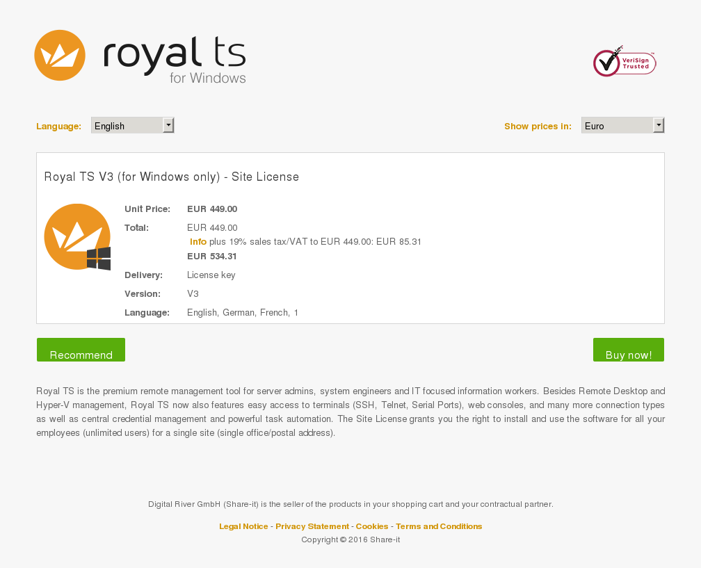 Royal Windows Only Site License Alternative