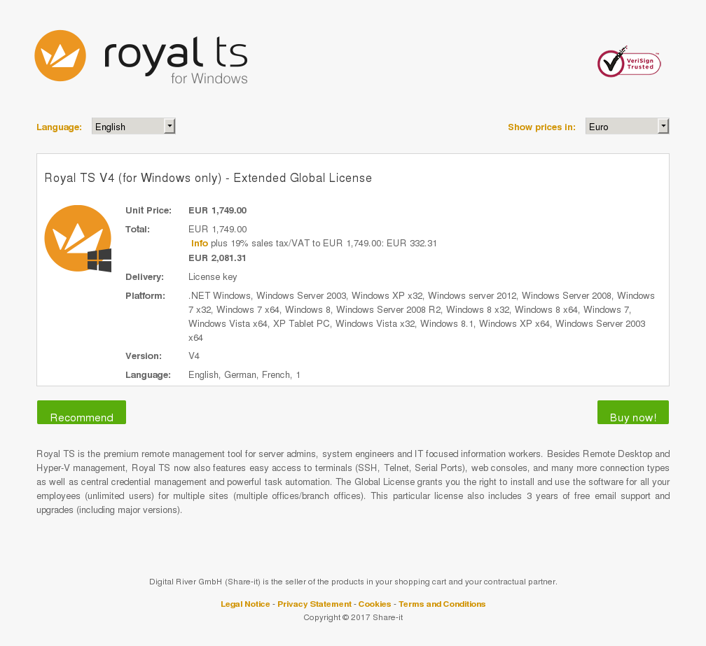 Royal Windows Only Extended Global License Download