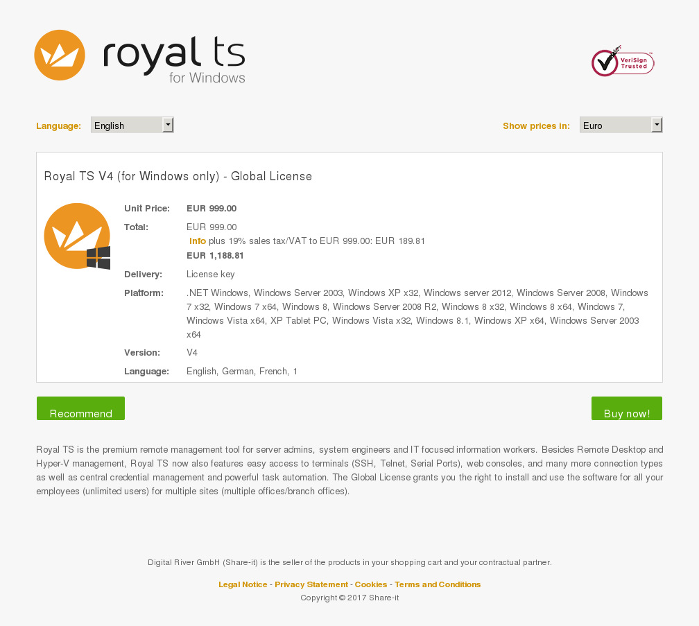 Royal Windows Only Global License Howto