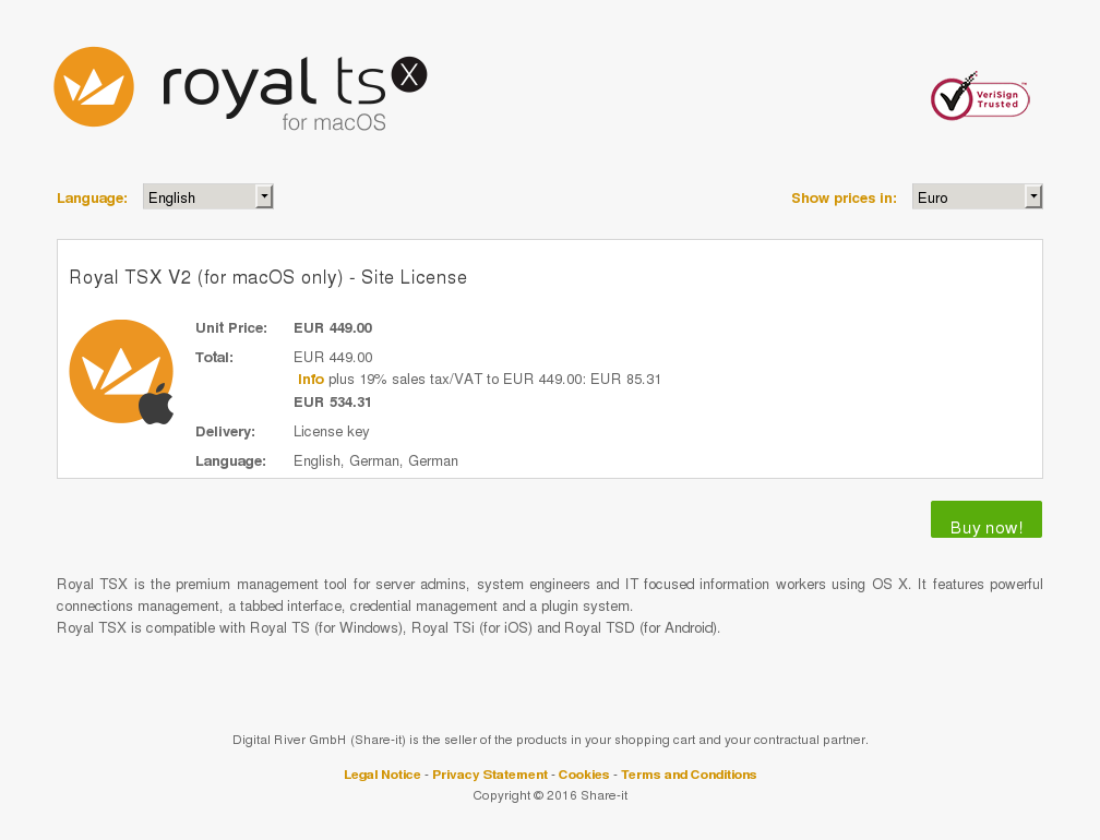 Royal Tsx Macos Only Site License Key Information