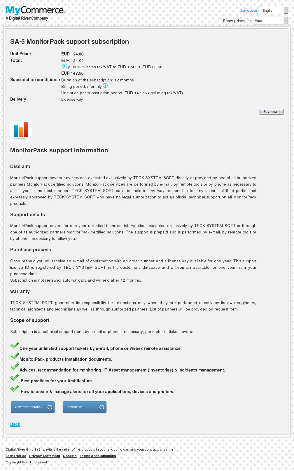 Monitorpack Support Subscription Review