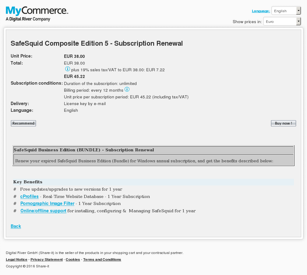 Safesquid Composite Edition Subscription Renewal Features