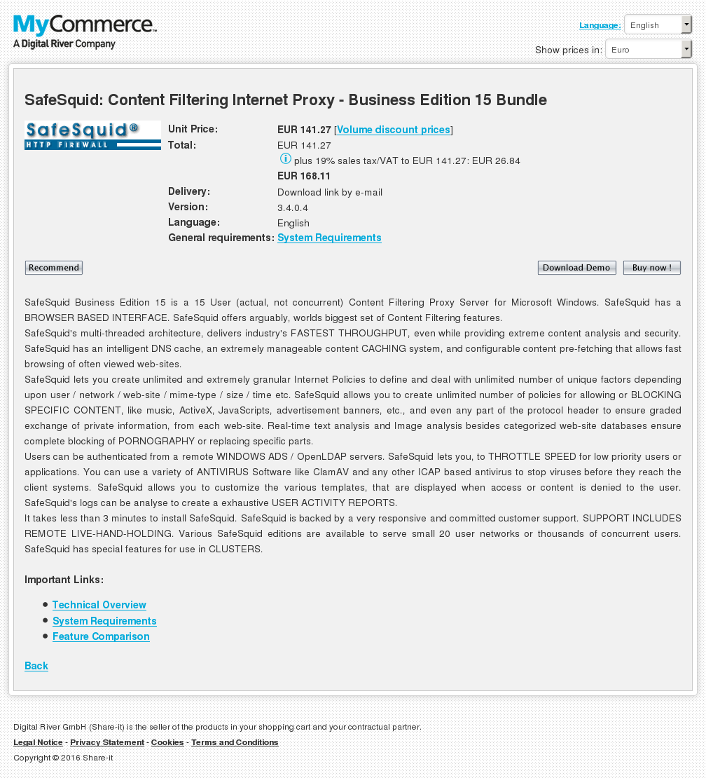 Safesquid Content Filtering Internet Proxy Business Edition Bundle Howto