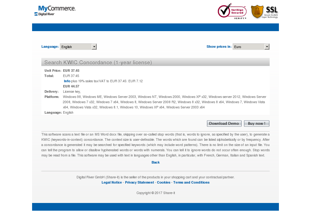Search Kwic Concordance Year License Features