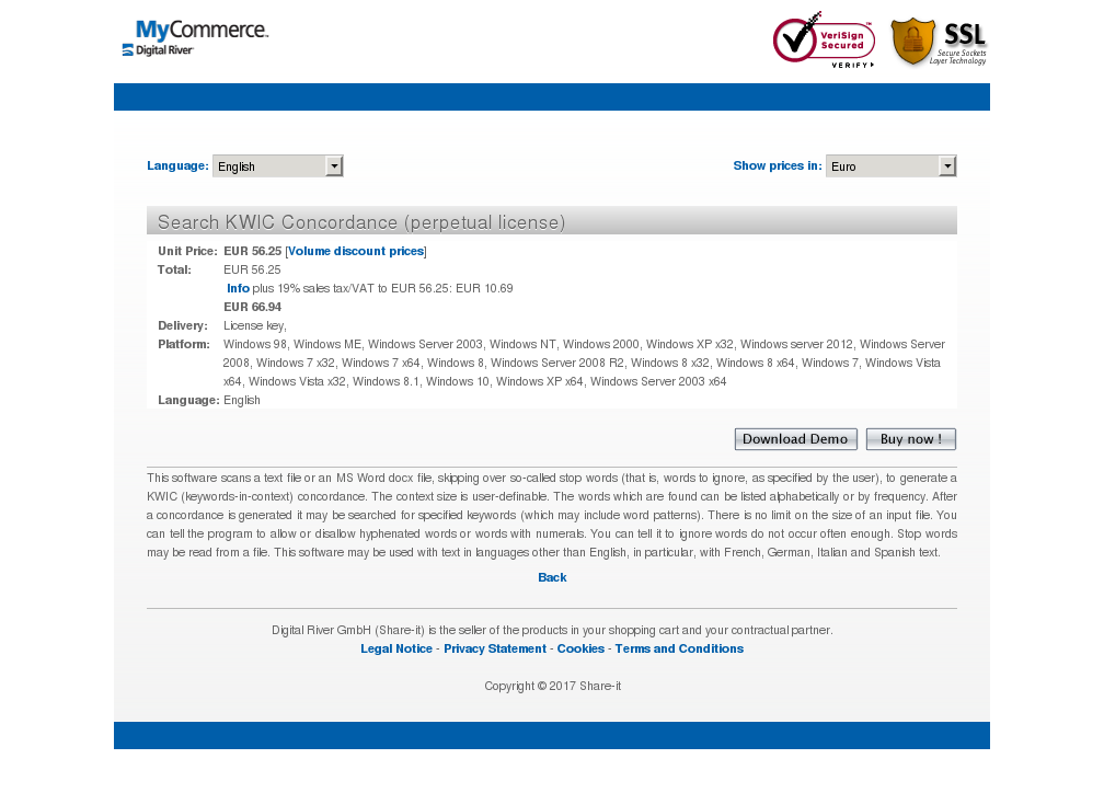 Search Kwic Concordance Perpetual License Features